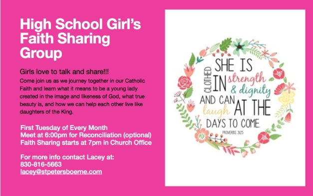 Girls Faith Sharing Flyer 2