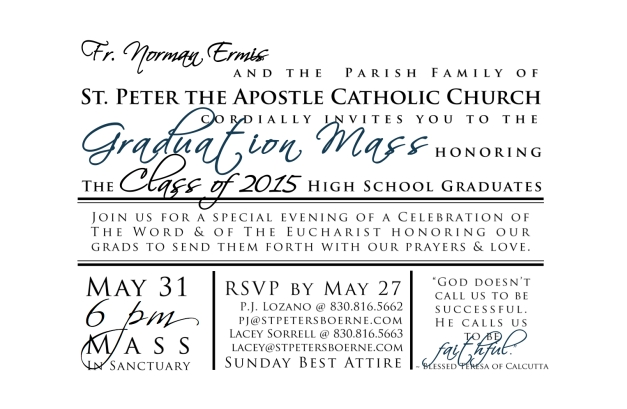 Graduation Mass Invitation 2015 (2)