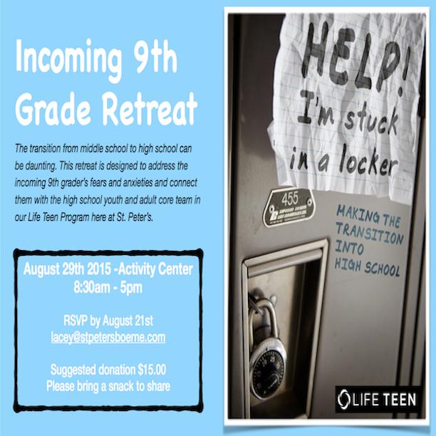 9th Grade Retreat Postcard